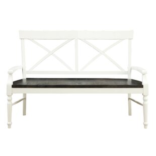Mulford Wood Bench by Beachcrest Home