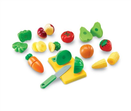 23 Piece Pretend and Play Sliceable Fruits and Veggies Set