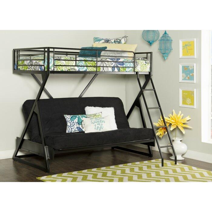 Petrey Twin Over Full Futon Bunk Bed