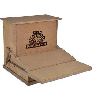Buy Wood Treadle Chicken Feeder!
