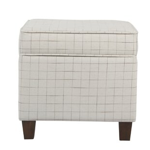 Carrol Windowpane Storage Ottoman by George Oliver