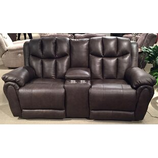 High Profile Leather Reclining Sofa