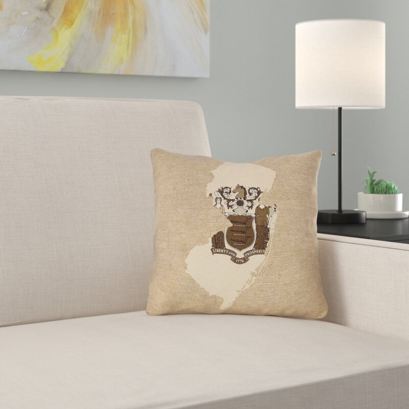 Ebern Designs Fawcett New Jersey Flag Pillow In Faux Suede Double Sided Print Pillow Cover Wayfair