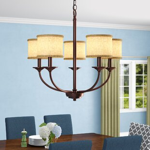 Gracie Oaks Nisswa 5-Light Shaded Chandelier