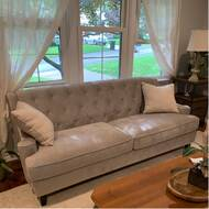 Kelly Clarkson Home Briley 85 Wide Recessed Arm Sofa Reviews Wayfair