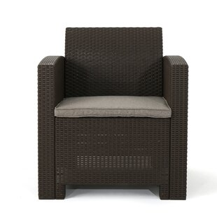 Ivy Bronx Lundell Wicker Patio Chair with..