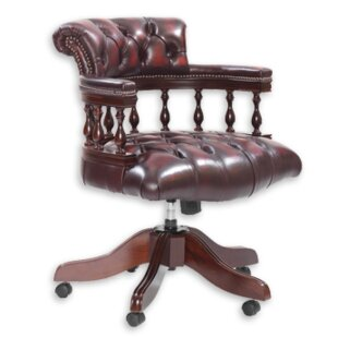 Tauranac Leather Bankers Chair By Rosalind Wheeler