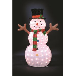 Ice Pattern Snowman Christmas Decoration