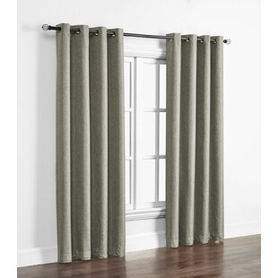 Kali Solid Max Blackout Thermal Grommet Single Curtain Panel by Charlton Home
