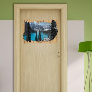 Moraine Lake In The Canadian Mountains Wall Sticker By East Urban Home