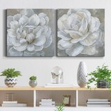 Bombshell Bloom I - 2 Piece Wrapped Canvas Painting Set