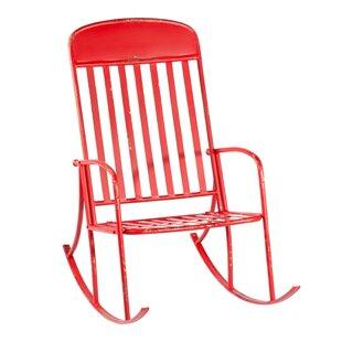 August Grove Dagmar Distressed Rocking Chair