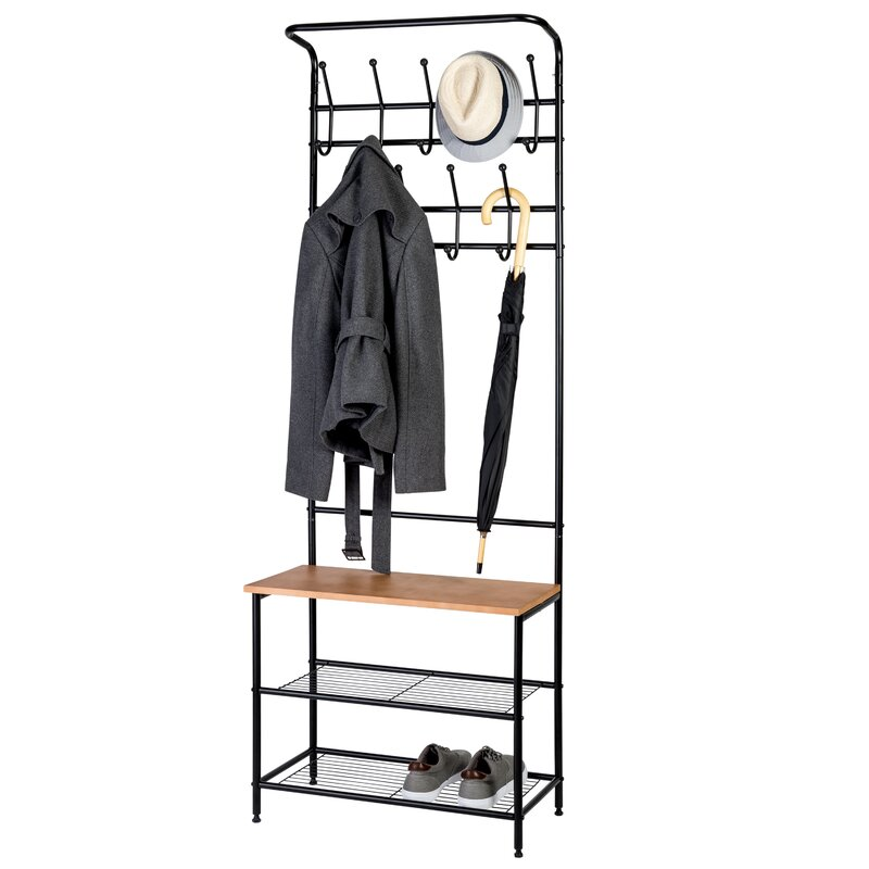 Honey Can Do Entryway Storage Coat Rack   Reviews   Wayfair f0e3387a52