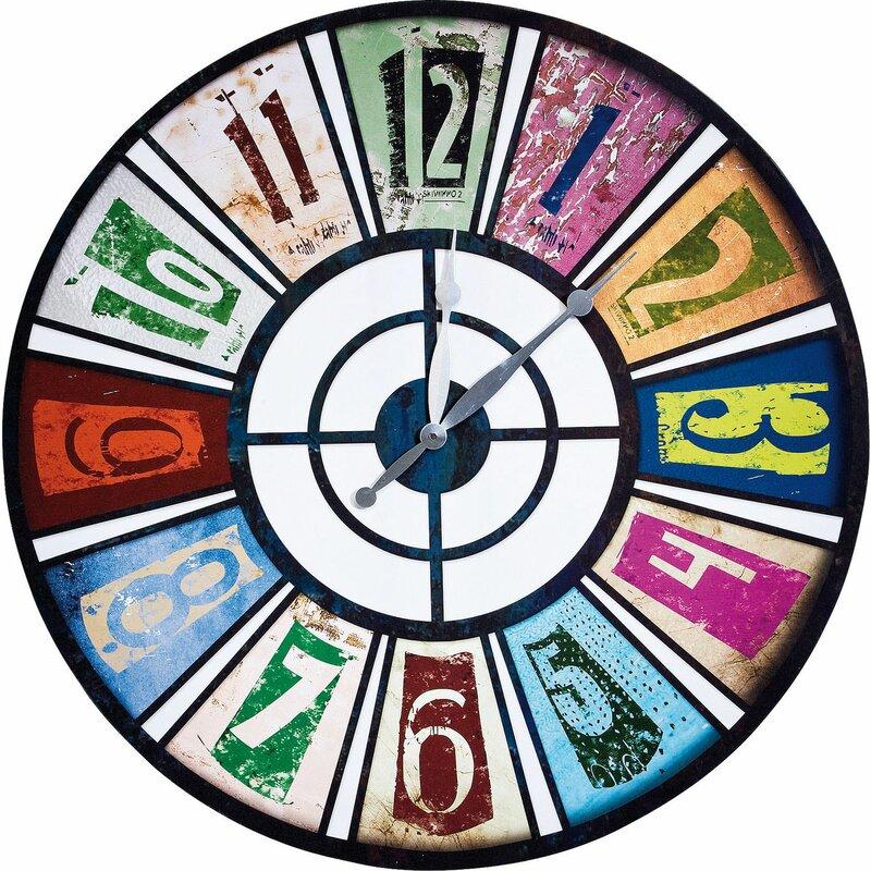 kare design analoge wanduhr roulette pop 80 cm bewertungen. Black Bedroom Furniture Sets. Home Design Ideas