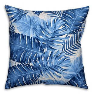 Steinhauer Watercolor Frond Outdoor Throw Pillow