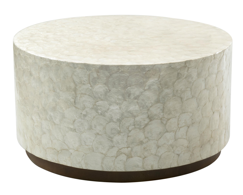 Kamara Solid Wood Drum Coffee Table Reviews Joss Main