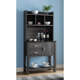 Latitude Run Alley Multi Storage Distressed Solid Wood Baker's Rack