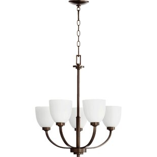 Edie 5-Light Shaded Chandelier by Andover Mills