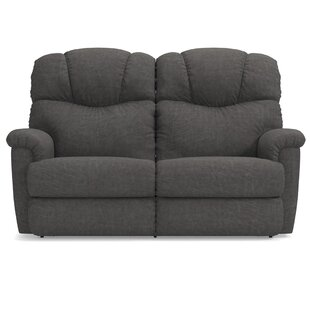 Shop Lancer Leather Reclining Loveseat by La-Z-Boy