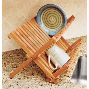 Lipper International Bamboo Folding Dish Rack