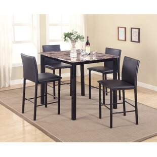 Noyes 5 Piece Counter Height Dining Set Red Barrel Studio