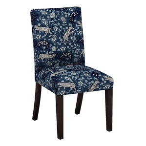 Bradyn Leopard Parsons Chair by World Menagerie