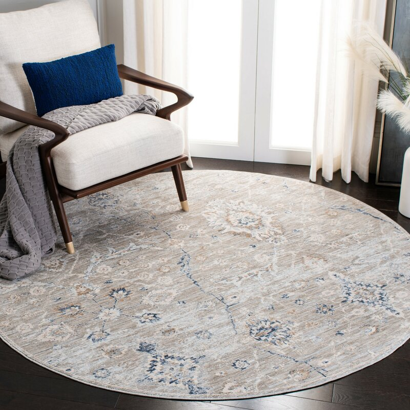 Ophelia Co Gutierrez Gray Area Rug