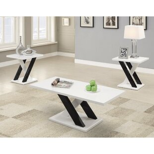 Ebern Designs Murby Wooden 3 Piece Coffee Table Set