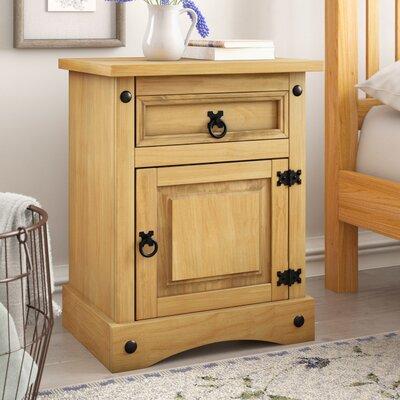 Nachttisch Whipton mit Schublade | Schlafzimmer > Nachttische | Kiefernholz - Sperrholz | Marlow Home Co.