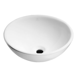 ANZZI Deux Series Vitreous China Circular Vessel Bathroom Sink