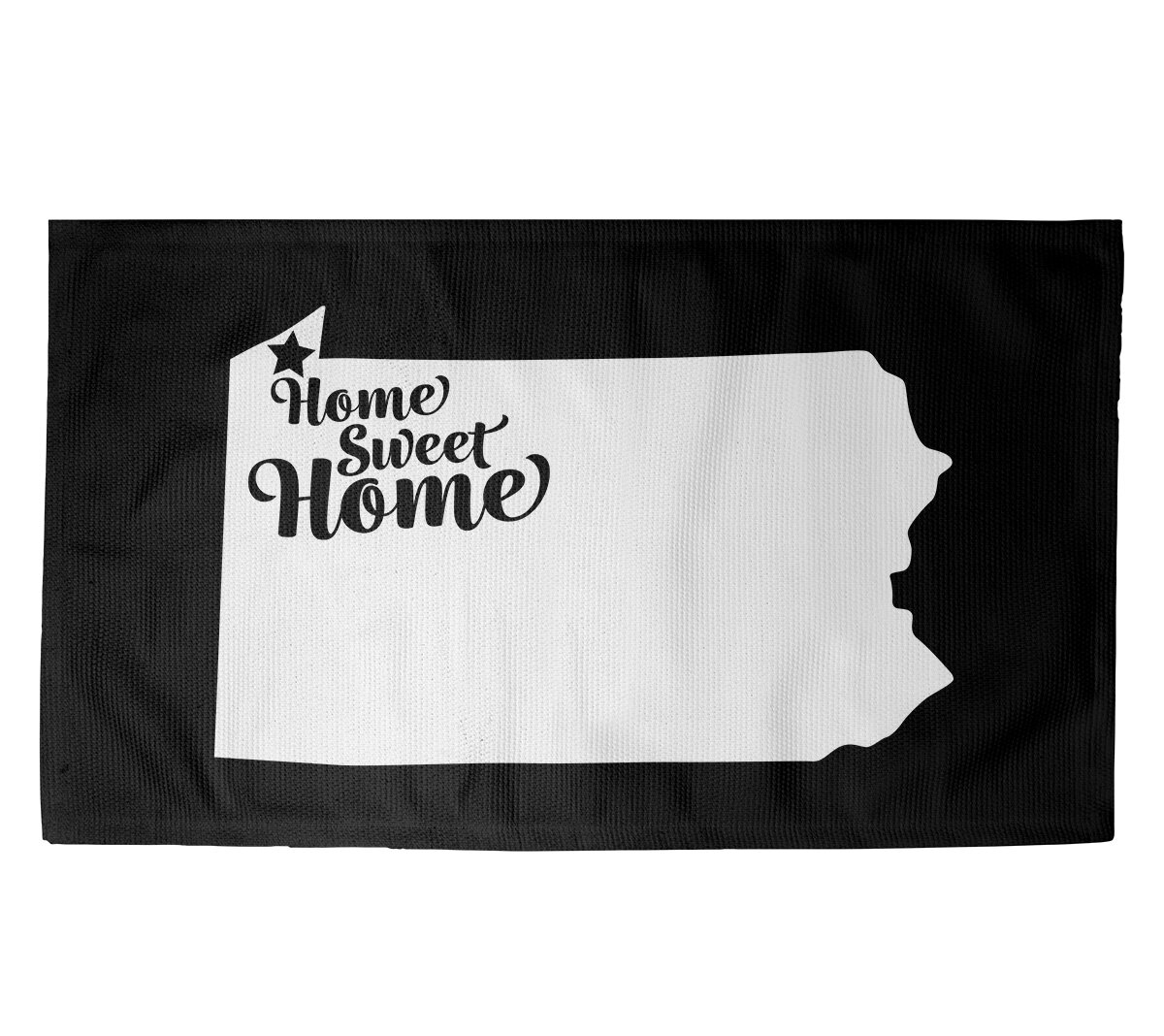 East Urban Home Home Sweet Erie Black Area Rug Wayfair