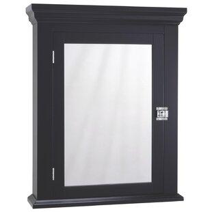 Edith 22.25 x 27.25 Surface Mount Framed Medicine Cabinet with 2 Adjustable Shelves