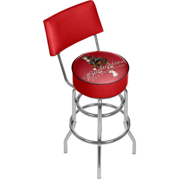 best loved 472a4 ca564 Budweiser Clydesdale Swivel Bar Stool with Back