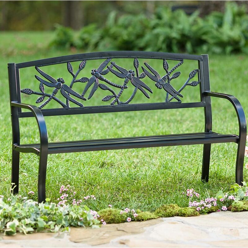 Superieur Dragonfly Metal Garden Bench