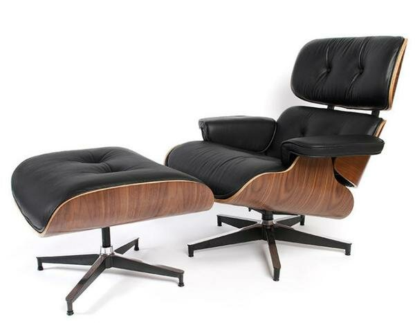 Donavan Mid Century Swivel Lounge Chair And Ottoman