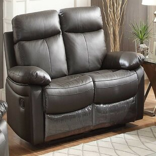 Mosby Genuine Leather Reclining Loveseat