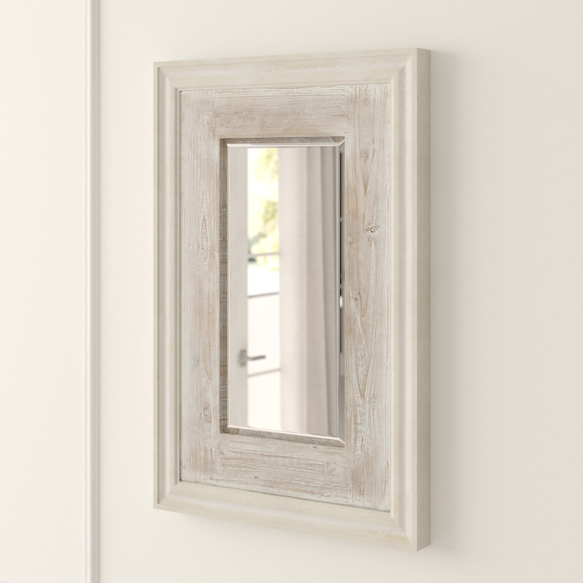 Argent Traditional Beveled Distressed Accent Mirror Reviews Joss Main