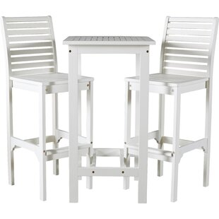 Hatten 3 Piece Bar Height Dining Set