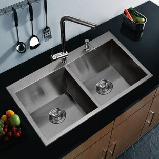 dCOR design Brier Double Bowl Kitchen Sink