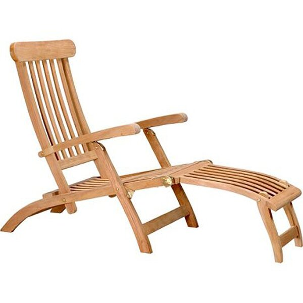 Charmant Teak Steamer Chair | Wayfair