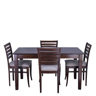Maag 5 Piece Solid Wood Dining Set Red Barrel Studio