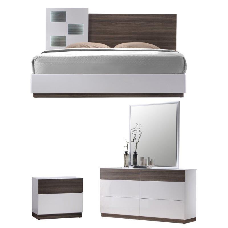 Modern Platform Bedroom Sets Soft Bedroom Lighting Black And Red Bedroom Interior Design Bedroom Furniture Ideas 2016: Elida Platform Configurable Bedroom Set & Reviews