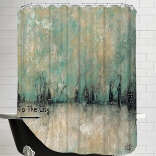 To the City Single Shower Curtain