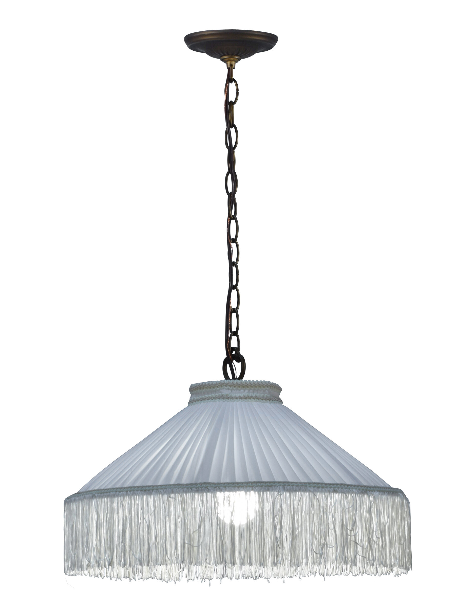 Astoria Grand Mcnair 1 Light Single Dome Pendant With Beaded Accents Wayfair