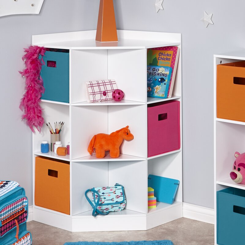 6 Cubby 3 Shelf Toy Organizer