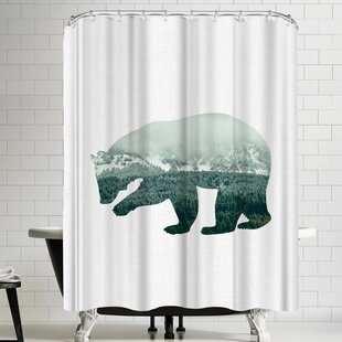 Annie Bailey Brown Bear Single Shower Curtain