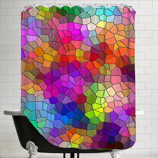 Colorful Abstract Mosaic Style Single Shower Curtain