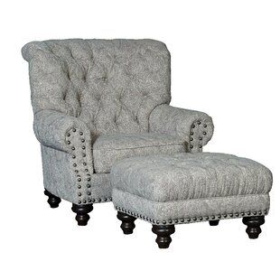 Darby Home Co Cueto Wingback Chair and Ottoman