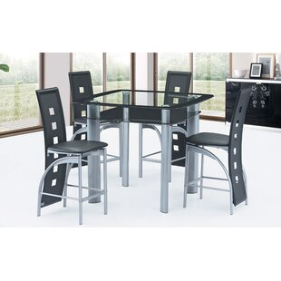 5 Piece Counter Height Dining Set Best Quality Furniture