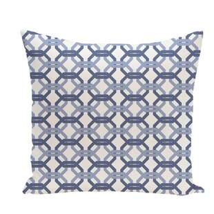 We're All Connected Geometric Print Throw Pillow by e by design